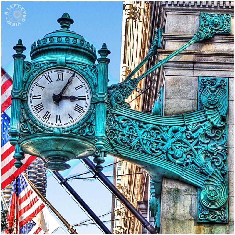 Marshall Field Clock, Chicago, Macy
