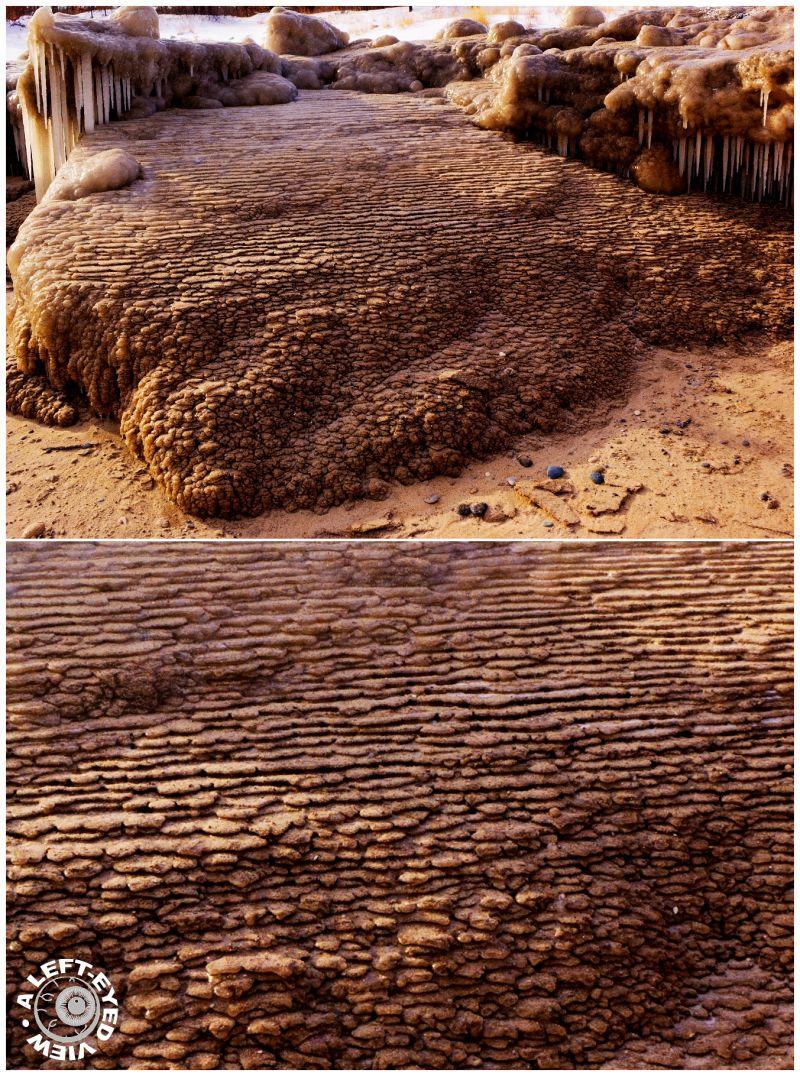Waukegan, Sand strata. frozen,