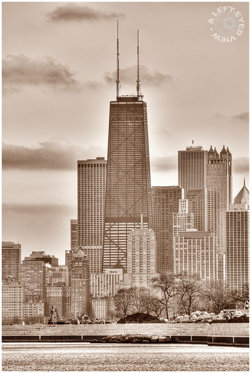 John Hancock Building, Harbor, Chicago, skyline