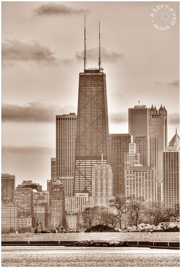John Hancock Building, Harbor, Chicago, skyline