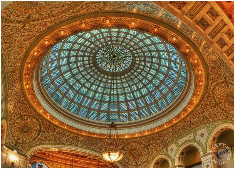 "Preston Bradley Hall, Tiffany Dome, ""Left-Eyed"""