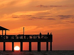 """""""Fort Myers, Florida"""", sunset, """"A Left-Eyed View"""""""
