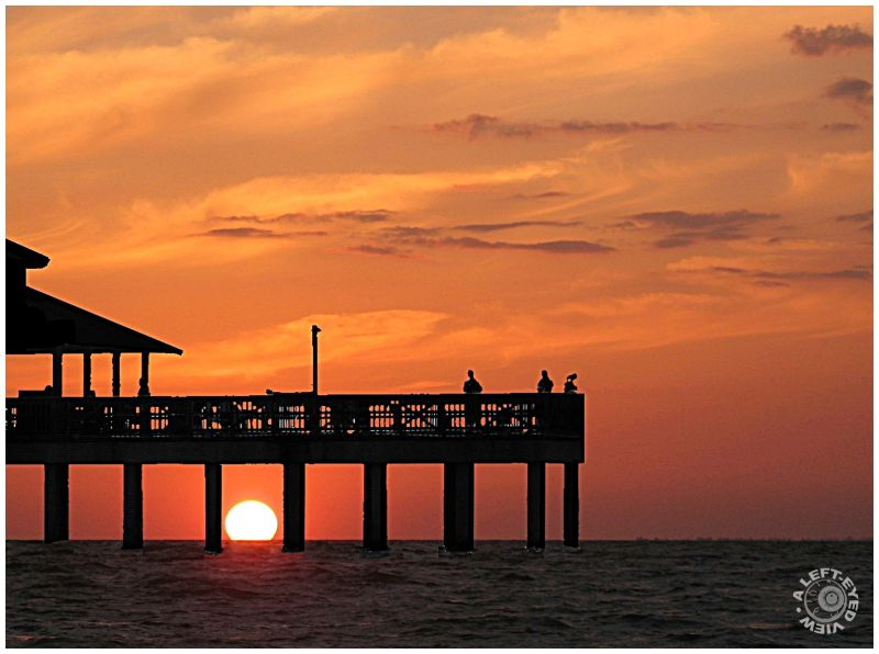 """Fort Myers, Florida"", sunset, ""A Left-Eyed View"""