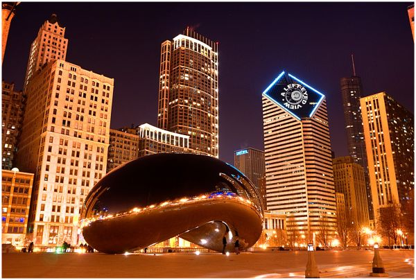 """""""Cloud Gate"""", """"The Bean"""", """"Smurfit-Stone"""", Chicago"""