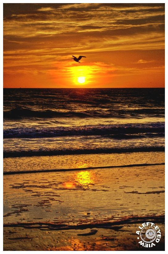 """Sunset, """"Fort Myers Beach"""", """"A Left-Eyed View"""""""