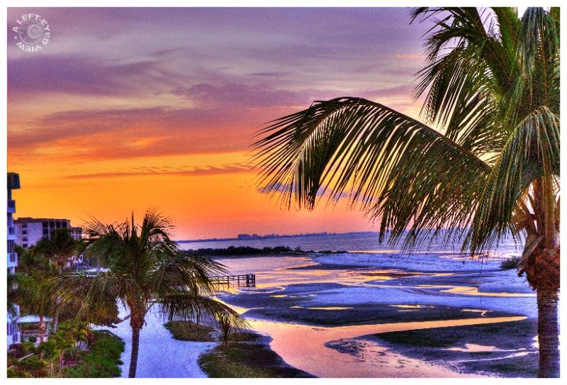 """Fort Myers Beach, """"A Left-Eyed View"""", Sunrise"""