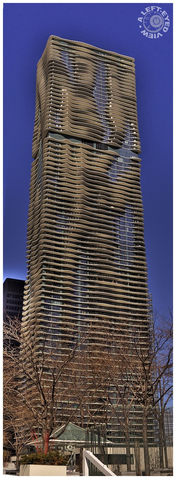 """""""Aqua Building"""", Chicago, """"A Left-Eyed View"""""""