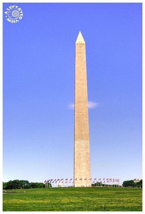 """Washington monument"", ""A Left-Eyed View"""