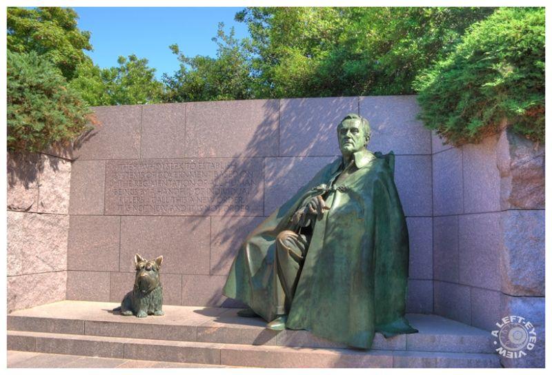 FDR, Fala, Memorial, DC