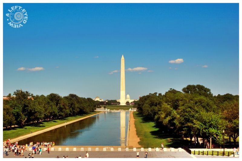 """Reflecting Pool"", ""Lincoln Memorial"""