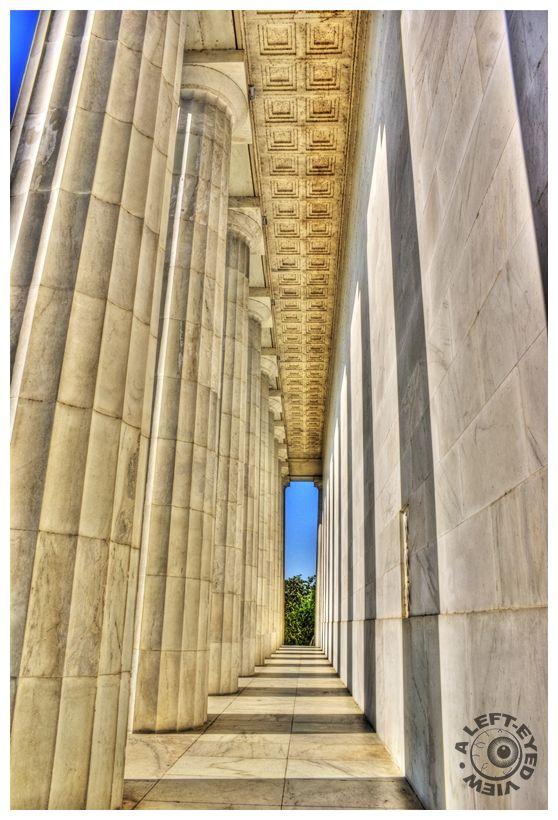 "Columns, colonnade, ""Lincoln Memorial"""