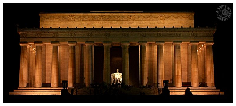 """Lincoln memorial"", ""A Left-Eyed View"""