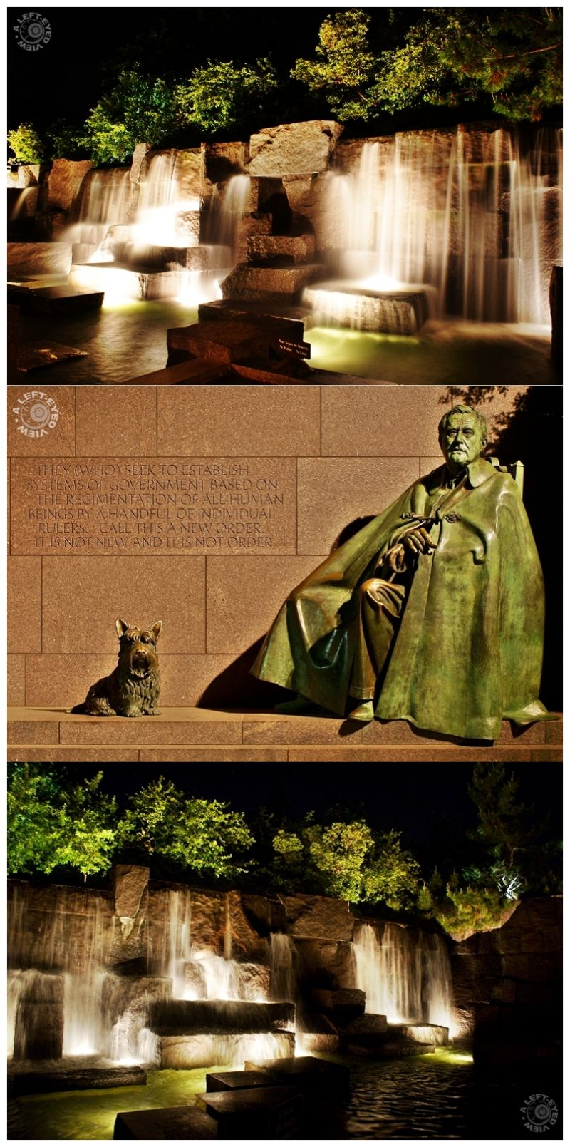 """""""FDR Monument"""", """"A Left-Eyed View"""","""