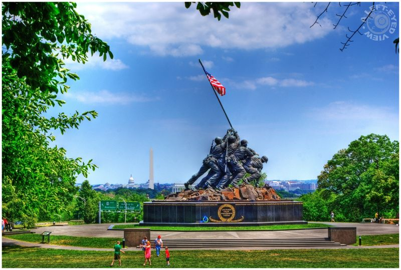 """Iwo Jima Memorial"", ""A Left-Eyed View"", Iwo Jima"