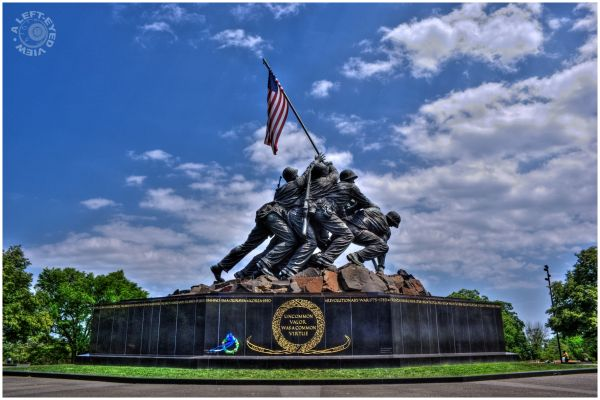 """Iwo Jima Memorial"", ""A Left-Eyed View"""