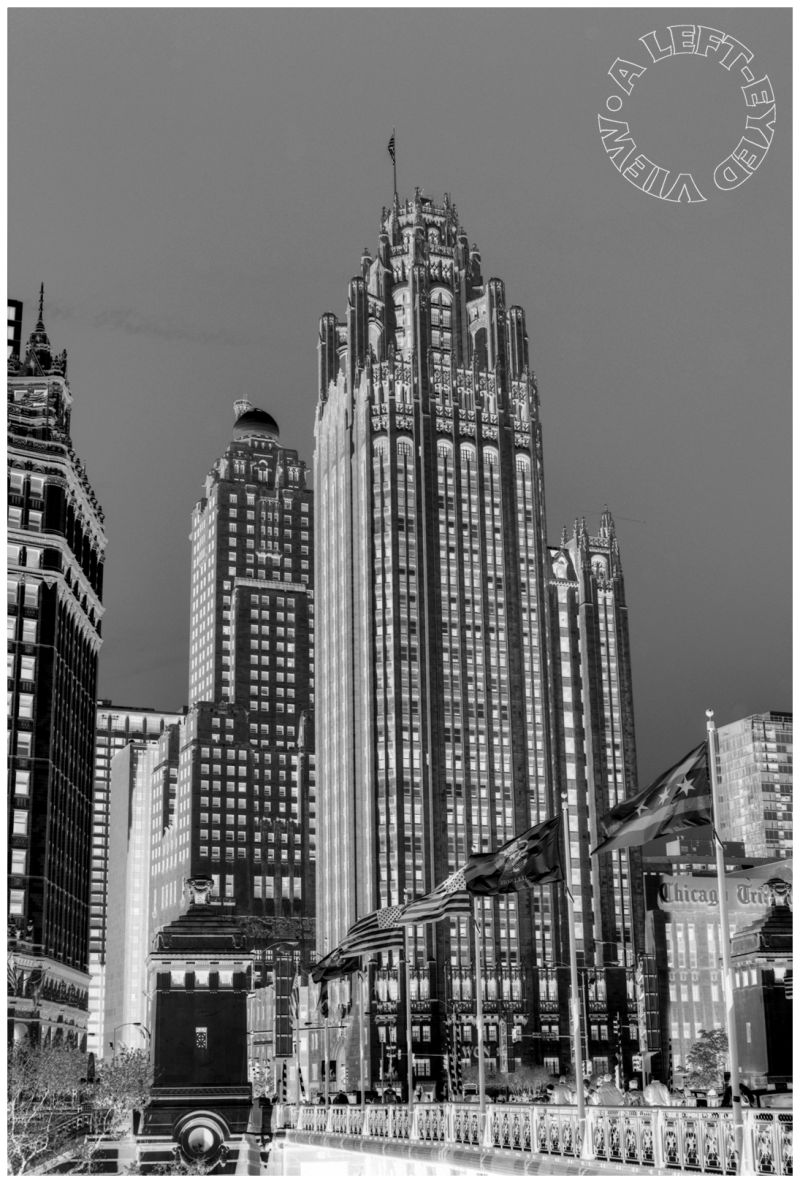 """""""Tribune Tower"""", """"A Left-Eyed View"""""""