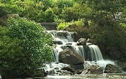 """Waterfall, """"Chicago Botanic Garden"""""""