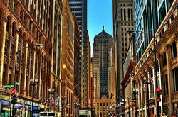 """""""Chicago's Financial District"""", """"Board of Trade"""""""