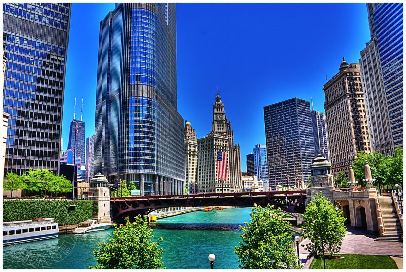 Chicago River, Wabash Avenue Bridge