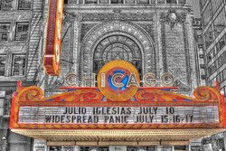 "Chicago Theatre Marquee, ""A Left-Eyed View"""