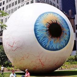 """""""EYE"""", """"Eye sculpture"""", """"A Left-Eyed View"""""""
