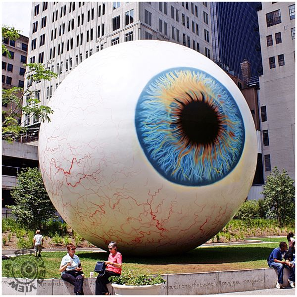 """EYE"", ""Eye sculpture"", ""A Left-Eyed View"""
