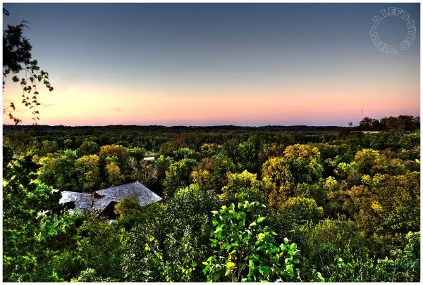 """Starved Rock Overlook, """"A Left-Eyed View"""", canyon"""
