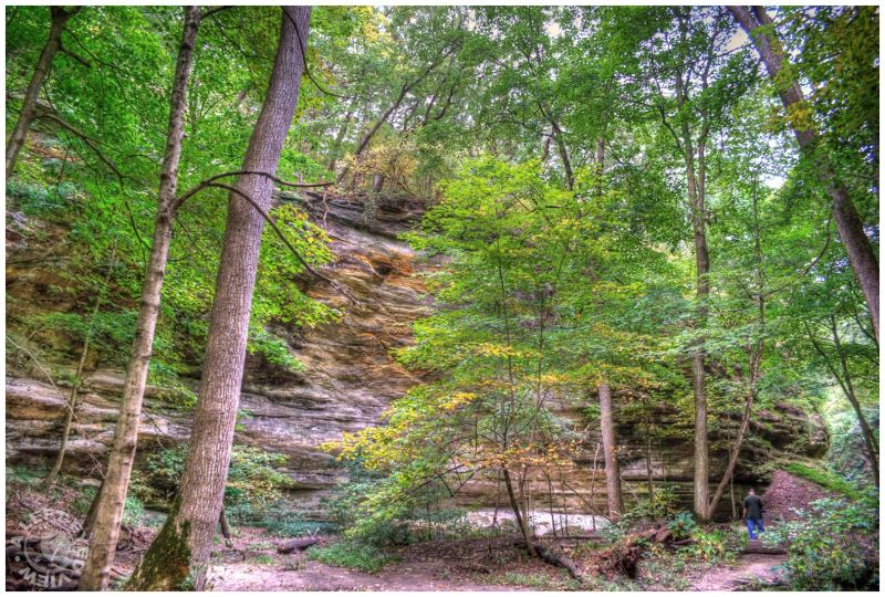 """""""Starved Rock"""", canyon, """"A Left-Eyed View"""""""
