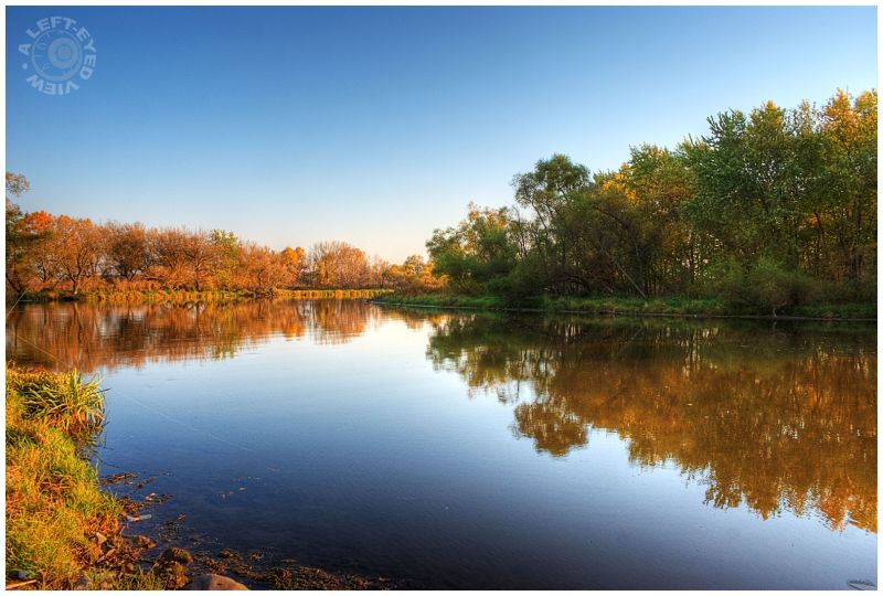 """Fox River"", reflection, autumn, fall"