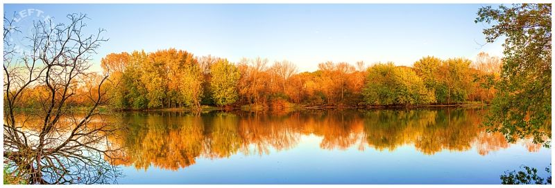 Fox River, reflection, river, autumn, fall