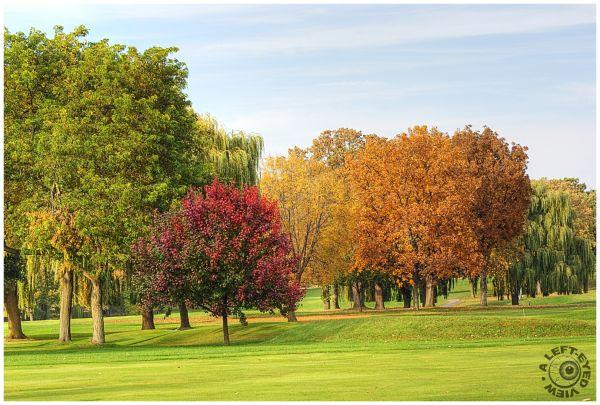 """Glen Flora Country Club"", Waukegan, Autumn"