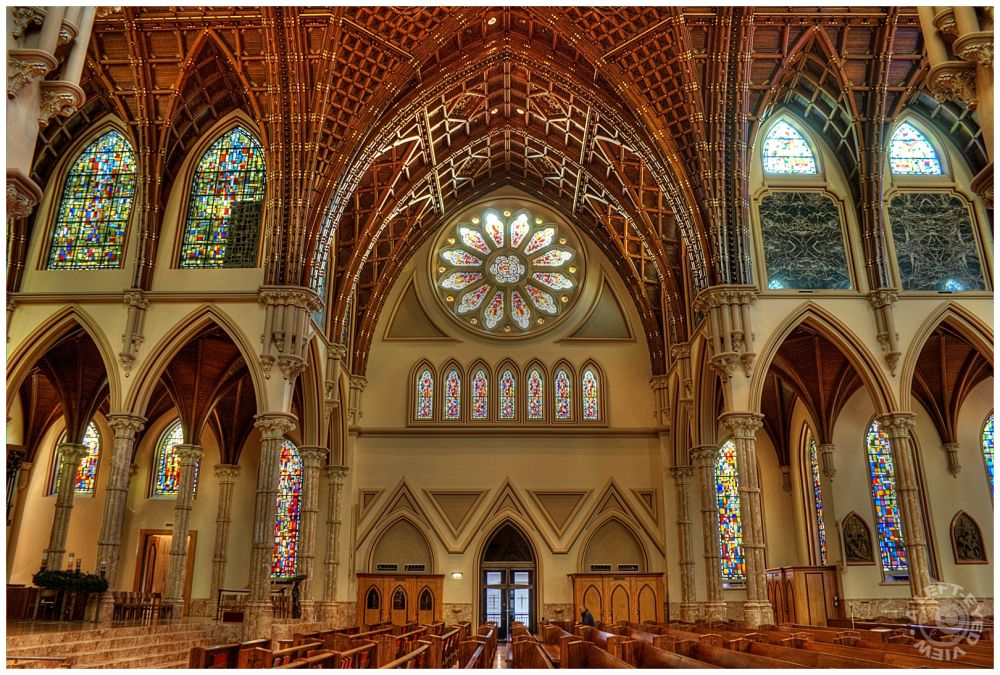 """Transept, """"Holy Name Cathedral"""", A Left-Eyed View"""