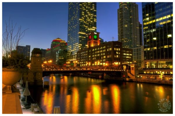 Twilight Along the Chicago River