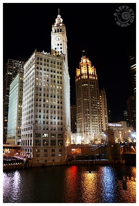 Wrigley Building, Tribune Tower, A Left-Eyed View