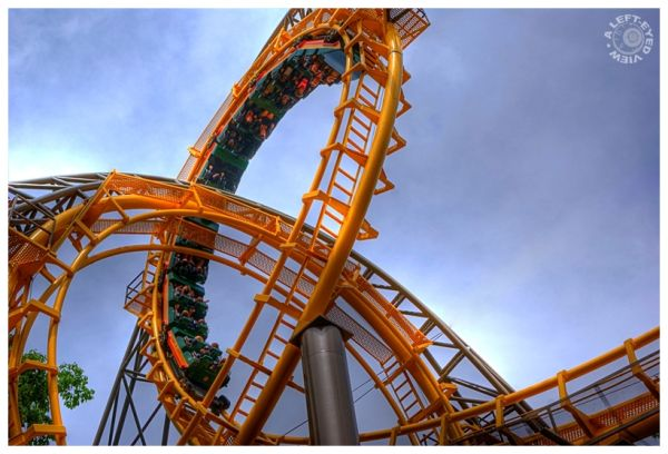"""""""Rollercoaster"""", """"A Left-Eyed View"""". Busch Gardens"""