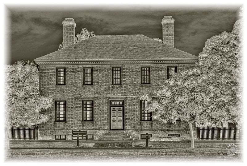 """""""George Wythe"""" house, """"A Left-Eyed View"""""""