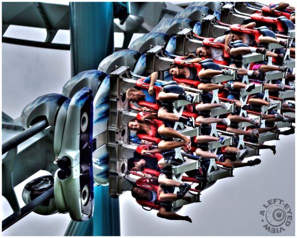 """Alpengeist, roller coaster, """"A Left-Eyed View"""""""
