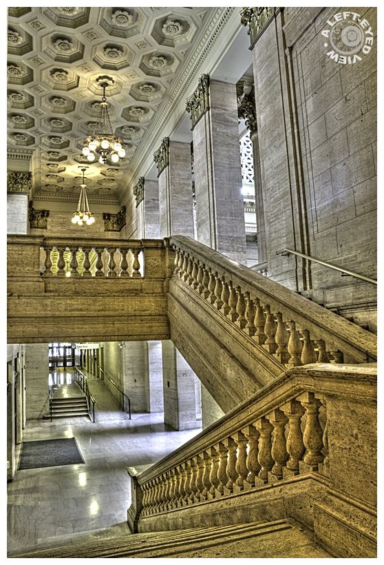 """""""Union Station"""", staircase, balustrade"""