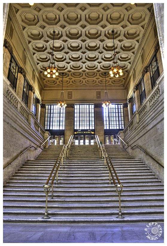 """""""Canal Street Entrance"""", staircase"""