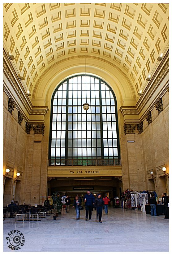 """""""To All Trains"""", """"Union Station"""", concourse"""