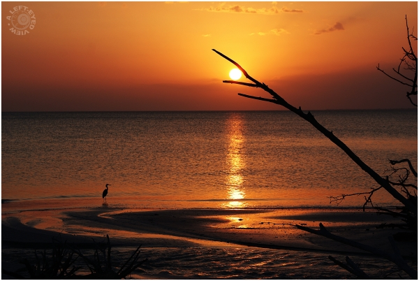 "Sunset, ""Fort Myers Beach"", ""A Left-Eyed View"""