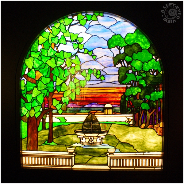 """Garden with Fountain"", ""stained glass"""