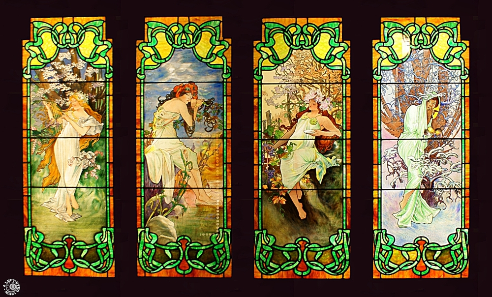 """Four Seasons"", ""Alphonse Mucha"", ""Smith Museum"""
