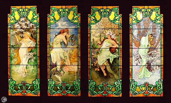 """Four Seasons"", ""Alphonse Mucha"", ""Smith Museum"""