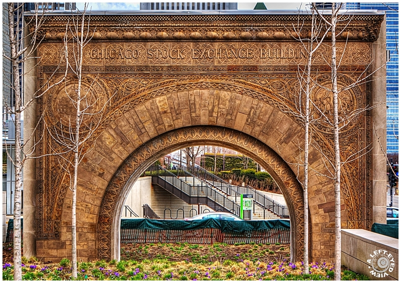"""Chicago Stock Exchange Arch"", ""A Left-Eyed View"""