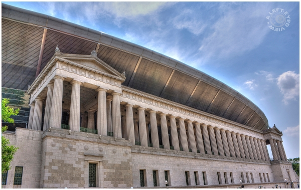 Dwarfed Columns at Soldier Field
