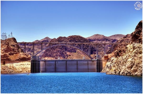"""Lake Mead"", ""Hoover Dam"", ""Penstock Towers"""