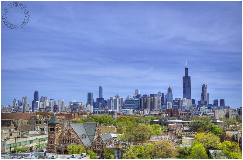 """Chicago Skyline, """"A Left-Eyed View"""""""