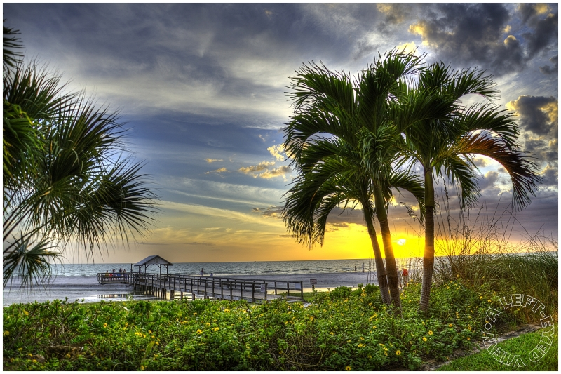 """""""Fort Myers Beach"""", Sunset, """"A Left-Eyed View"""""""