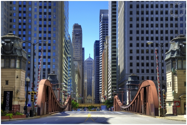 "LaSalle Street, Bridge, ""A Left-Eyed View"""